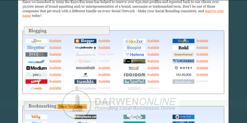 tip register your name across all social media platforms web seo